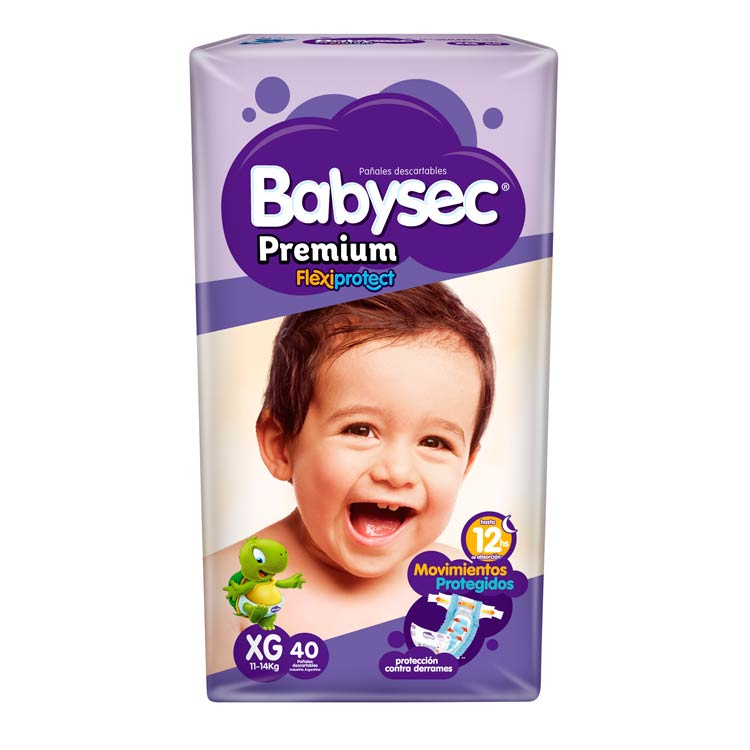 Pañal Babysec Premium Talle XG
