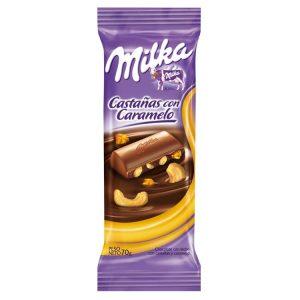 Chocolate Milka con Castañas y Caramelo