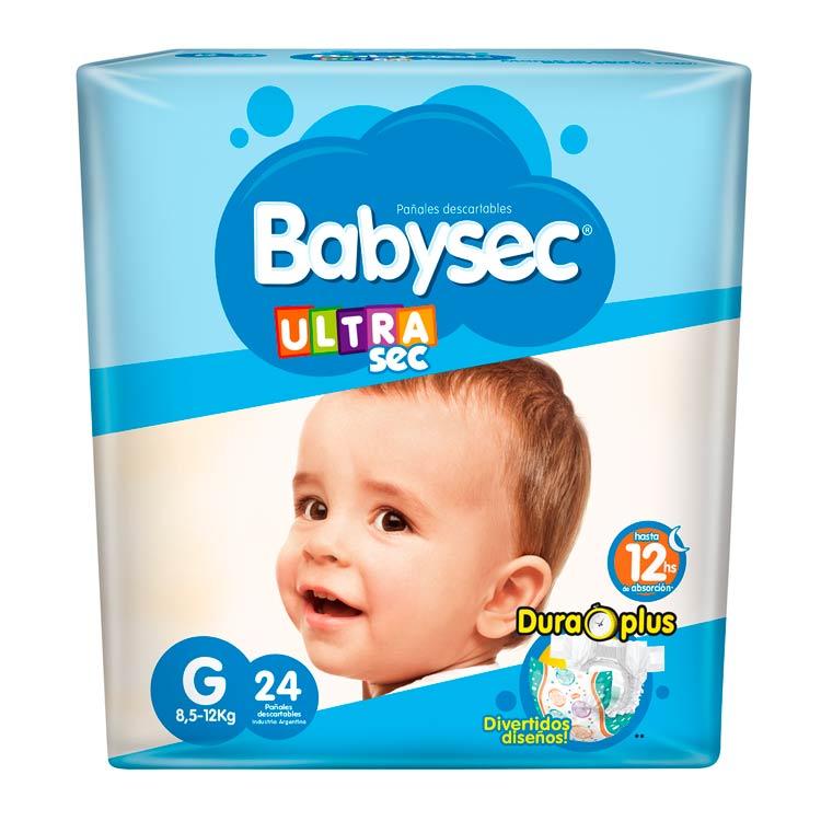 Pañal Babysec Ultrasec Talle Grande