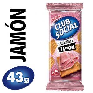 Galletitas Club Social Sabor Jamón