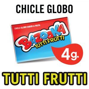 Chicles Bazooka Globo Tutti Frutti