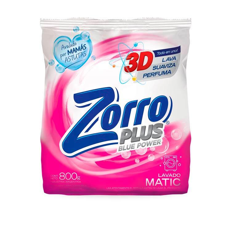 Jabón en Polvo Zorro Matic Blue Power