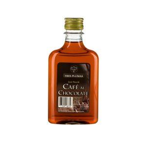 Licor de Café al Chocolate Tres Plumas Petaca