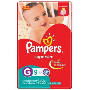 Pañal Pampers Supersec Talle XXG