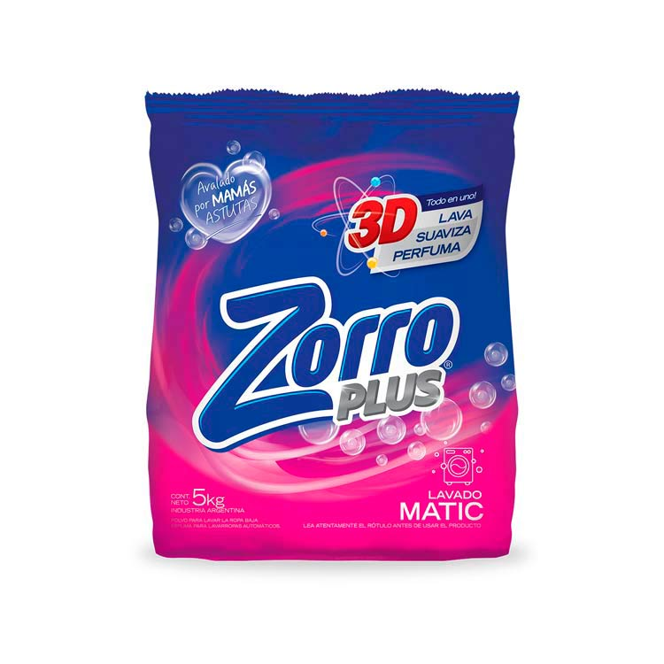 Jabón en Polvo Zorro Matic