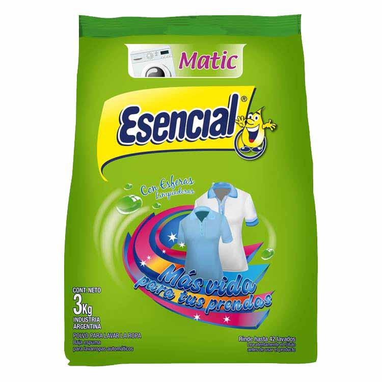 Jabón en Polvo Esencial Matic