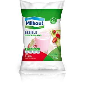 Yogur Milkaut Descremado Sachat Frutilla