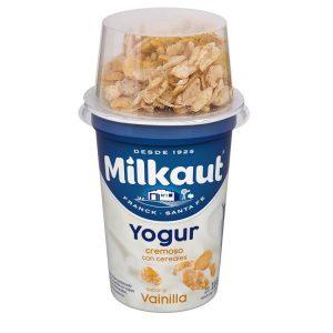Yogur Milkaut Entero Vainilla Con Cereales