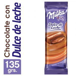 Chocolate de Leche Milka con Dulce de Leche