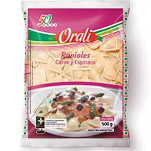 Ravioles Orali Carne Y Espinaca