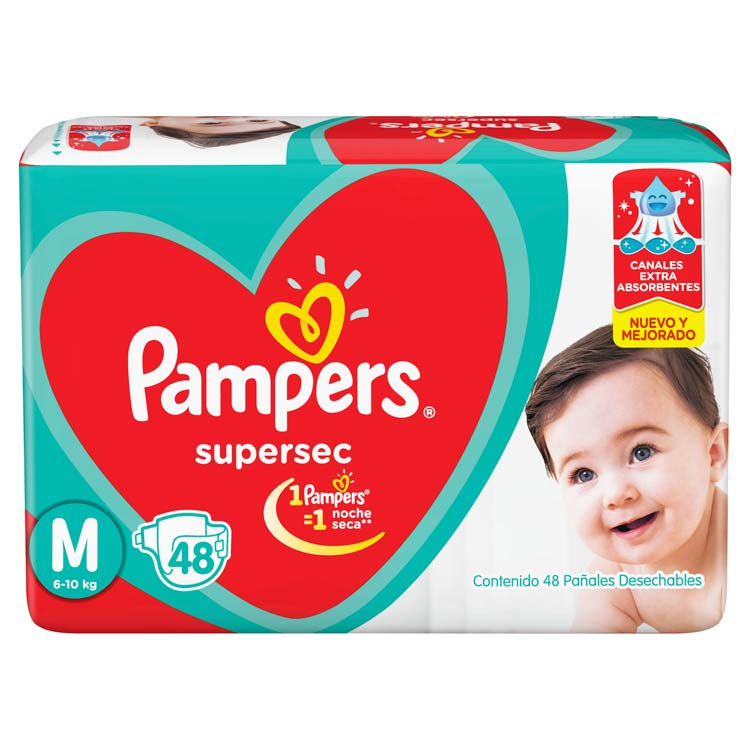 Pañal Pampers Supersec Talle Mediano