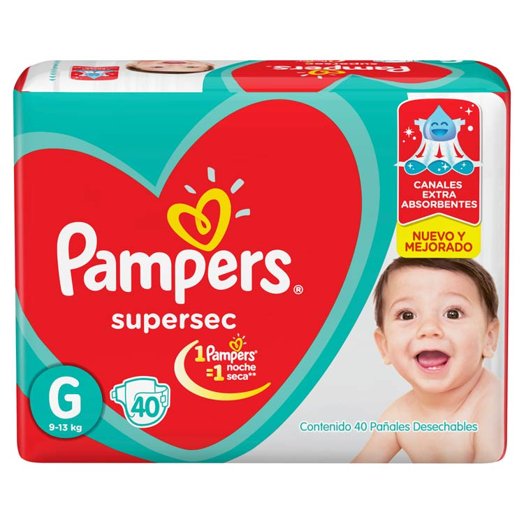 Pañal Pampers Supersec Talle Grande