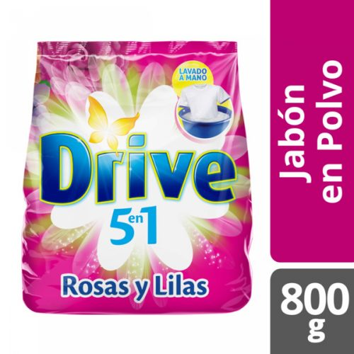 Jabón en Polvo Drive Regular Rosas y Lilas