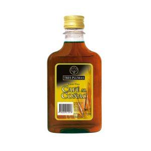 Licor de Café al Cognac Tres Plumas Petaca