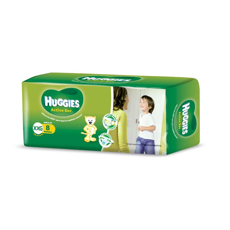 Pañal Huggies Verde Talle XG