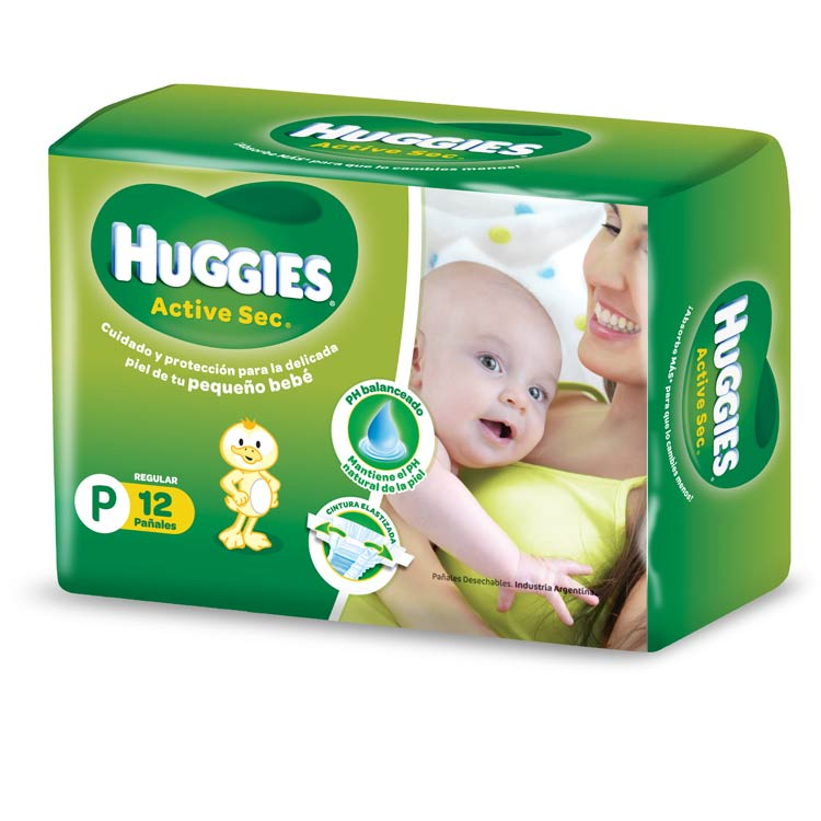 Pañal Huggies Verde Regular Talle Pequeño
