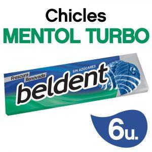 Chicles Beldent Mentol Turbo