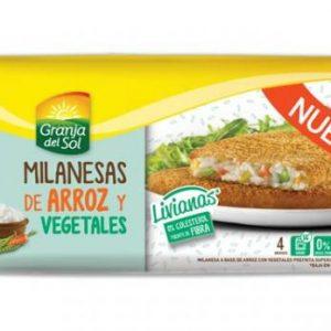 Milanesas de Arroz y Vegetales